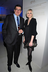 JEAN-MARC LACAVE Chief Executive of TAG Heuer and SOPHIE DAHL attending the Tag Heuer party where an exhibition of photographs by Mary McCartney celebrating 15 exception women from 15 countries was unveiled at the Royal College of Arts, Kensington Gore, London on 8th February 2007.<br />