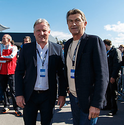 04.05.2014, Hockenheimring, Hockenheim, GER, DTM, 1. Lauf, Hockenheimring, Pressekonferenz, im Bild Andreas Brehme und Klaus Augenthaler sind zu Gast bei Mercedes // during a press Conference prior to the 1th run of DTM at the Hockenheimring in Hockenheim, Germany on 2014/05/04. EXPA Pictures © 2014, PhotoCredit: EXPA/ Eibner-Pressefoto/ Neis<br /> <br /> *****ATTENTION - OUT of GER*****