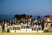 Podium Team Test Children 1. Russia, 2. France, 3. Spain<br /> European Championships Dressage 2016<br /> © DigiShots