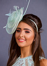 LIVERPOOL, ENGLAND - Thursday, April 6, 2017: Megan King, 16 from Liverpool wearing Lipsy, during The Opening Day on Day One of the Aintree Grand National Festival 2017 at Aintree Racecourse. (Pic by David Rawcliffe/Propaganda)