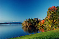 Hudson River view from Mills Mansion, Straatsburg, New York, Fall