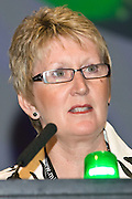 Angela Davies, Executive, speaking at the NUT Conference 2008, Manchester...© Martin Jenkinson, tel 0114 258 6808 mobile 07831 189363 email martin@pressphotos.co.uk. Copyright Designs & Patents Act 1988, moral rights asserted credit required. No part of this photo to be stored, reproduced, manipulated or transmitted to third parties by any means without prior written permission   NUT08