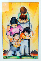 A painting by Jose Ortiz on the walls of Second Chance's main office emphasizes the vital importance of family in the overall health of the community.  The organization's outreach includes counseling, drug education programs, parenting workshops and other assistance in service to at-risk youth.