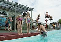 Swimmers enjoy cooling off in the water at the Kiwanis Pool in St. Johnsbury Vermont.  Karen Bobotas / for Kiwanis International