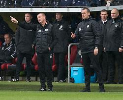 St Mirren manager Oran Kearney with Assistant Brian Rice  during the Ladbrokes Scottish Premier League match at St Mirren Park, St Mirren.