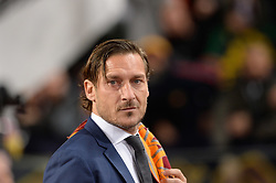 November 27, 2018 - Rome, Italy - Francesco Totti Hall of Fame before the UEFA Champions League match group G between AS Roma and Real Madrid FC at the Olympic stadium on november 27, 2018 in Rome, Italy. (Credit Image: © Silvia Lore/NurPhoto via ZUMA Press)