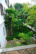 Maze garden, Krka Franciscan Monastery, island of Visovac, Krka National Park, Croatia