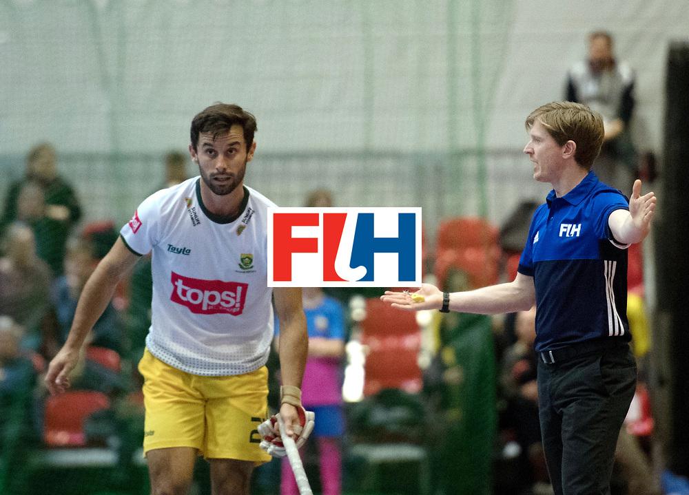 BERLIN - Indoor Hockey World Cup<br /> Switzerland - South Africa<br /> foto: Daniel Denta<br /> WORLDSPORTPICS COPYRIGHT FRANK UIJLENBROEK