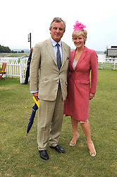 VISCOUNT ASTOR and his sister the COUNTESS OF MARCH at the 3rd day of the 2008 Glorious Goodwood racing festival at Goodwood Racecourse, West Sussex on 31st July 2008.<br /> <br /> NON EXCLUSIVE - WORLD RIGHTS
