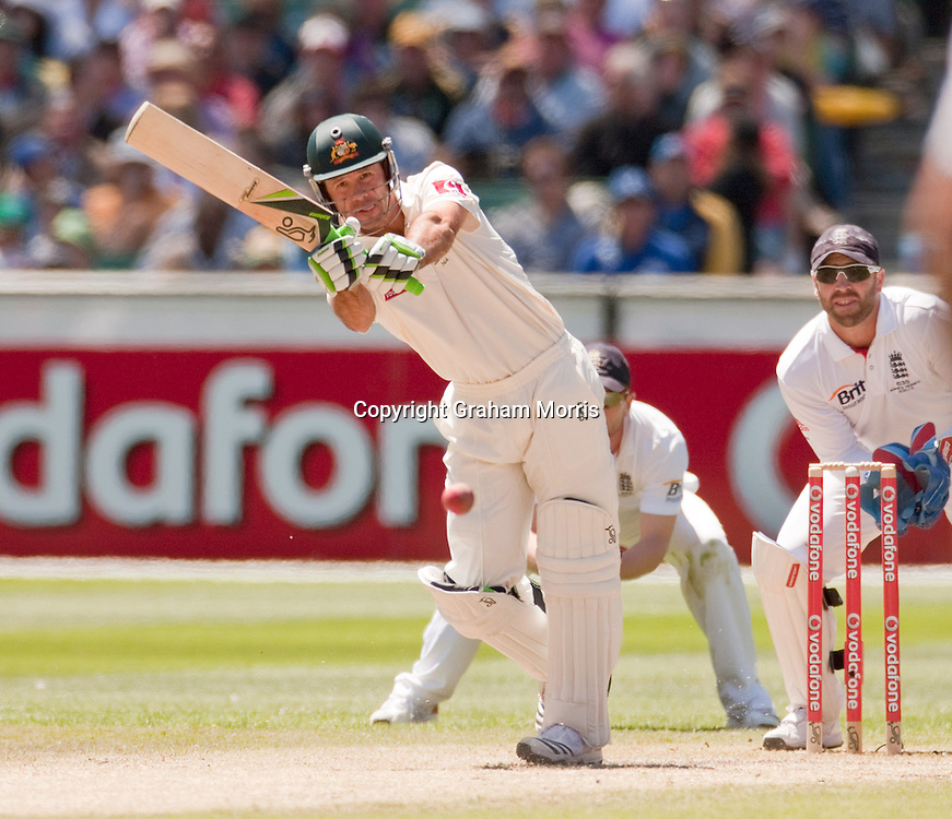 Ricky Ponting bats during the fourth Ashes test match between Australia and England at the MCG in Melbourne, Australia. Photo: Graham Morris (Tel: +44(0)20 8969 4192 Email: sales@cricketpix.com) 28/12/10