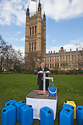 Hugh Bayley MP. Marking World Water Day, over 40 MP's walked for water at Westminster, London at an event organised by WaterAid and Tearfund. Globally hundreds of thousands of people took part in the campaign to raise awareness of the world water crisis.
