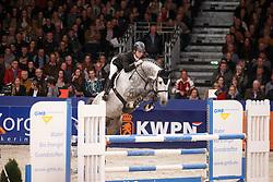 Billington James (GBR) - Dakar VDL<br /> KWPN Stallion Selection - 's Hertogenbosch 2014<br /> © Dirk Caremans