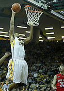January 04 2010: Iowa Hawkeyes forward Jarryd Cole (50) puts up a shot during the first half of an NCAA college basketball game at Carver-Hawkeye Arena in Iowa City, Iowa on January 04, 2010. Ohio State defeated Iowa 73-68.