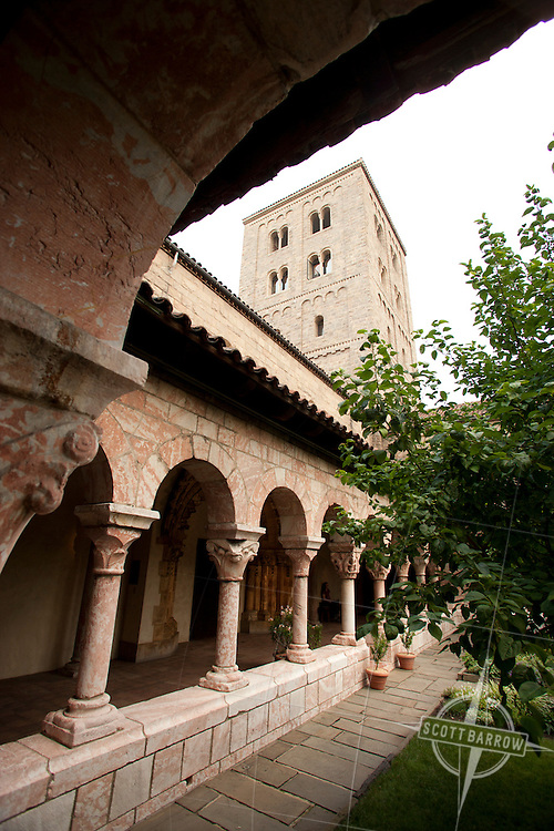 The Saint-Guilhem loister at the Cloisters in Fort Tryon Park, New York City.