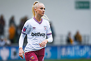 West Ham United Women forward Alisha Lehmann (7) during the FA Women's Super League match between Manchester City Women and West Ham United Women at the Sport City Academy Stadium, Manchester, United Kingdom on 17 November 2019.
