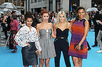 Vanessa White; Una Healy;  Mollie King; Rochelle Humes; The Saturdays, We're The Millers UK film premiere, Odeon West End cinema Leicester Square, London UK, 14 August 2013, (Photo by Richard Goldschmidt)