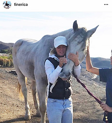 "Kirstie Alley releases a photo on Twitter with the following caption: """"Horse owner and horse reunited it's a miracle! #JustBElieve"""". Photo Credit: Twitter *** No USA Distribution *** For Editorial Use Only *** Not to be Published in Books or Photo Books ***  Please note: Fees charged by the agency are for the agency's services only, and do not, nor are they intended to, convey to the user any ownership of Copyright or License in the material. The agency does not claim any ownership including but not limited to Copyright or License in the attached material. By publishing this material you expressly agree to indemnify and to hold the agency and its directors, shareholders and employees harmless from any loss, claims, damages, demands, expenses (including legal fees), or any causes of action or allegation against the agency arising out of or connected in any way with publication of the material."