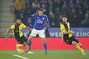 Jamie Vardy (9) of Leicester City during the Premier League match between Leicester City and Watford at the King Power Stadium, Leicester, England on 4 December 2019.