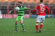 Forest Green Rovers Rob Sinclair(19) controls the ball during the Vanarama National League match between Wrexham FC and Forest Green Rovers at the Racecourse Ground, Wrexham, United Kingdom on 26 November 2016. Photo by Shane Healey.