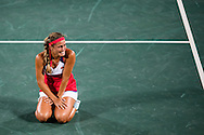 Monica Puig of Puerto Rico wins the Gold Medal in the Women's Tennis Singles on day eight of the XXXI 2016 Olympic Summer Games in Rio de Janeiro, Brazil.<br /> Picture by EXPA Pictures/Focus Images Ltd 07814482222<br /> 13/08/2016<br /> *** UK & IRELAND ONLY ***<br /> <br /> EXPA-EIB-160814-0016.jpg