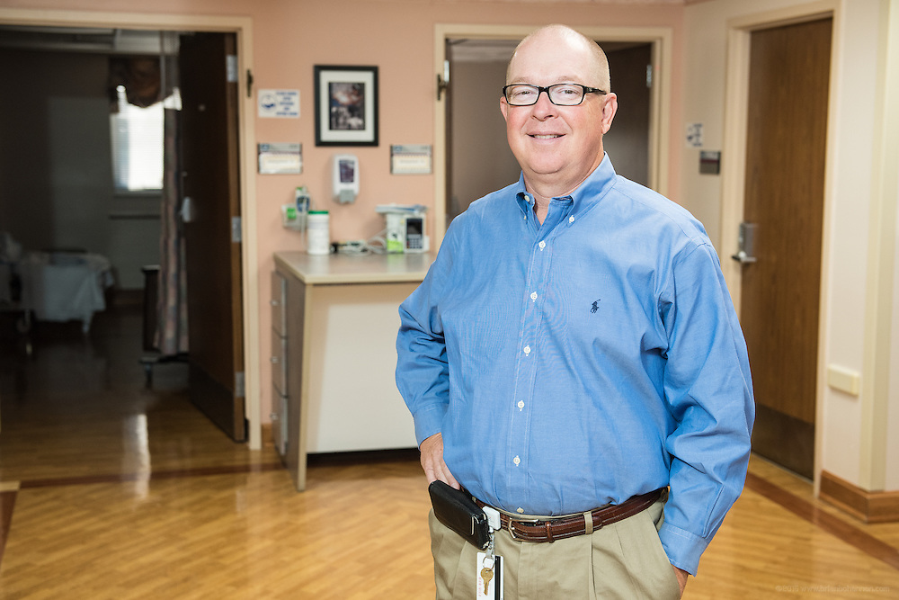 Obstetrician and Gynecologist Dr. James Hourigan, MD, photographed Wednesday, May 20, 2015 at Baptist Health in Richmond, Ky. (Photo by Brian Bohannon/Videobred for Baptist Health)