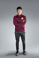 Portrait of Chinese soccer player Yin Changji of Yanbian Funde F.C. for the 2017 Chinese Football Association Super League, in Namhae County, South Gyeongsang Province, South Korea, 11 February 2017.