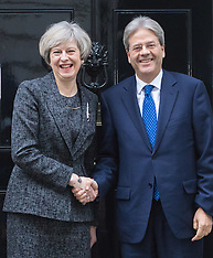 2017-02-09 Italian PM Paolo Gentiloni Visits British PM Theresa May at Downing Street