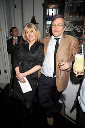 RACHEL JOHNSON and her husband IVO DAWNAY at a party to celebrate the publication of 'In Bed With' held at the Artesian Bar,The Langham Hotel, 1c Portland Placeon 11th February 2009.