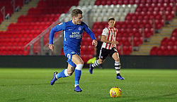 Jason Cummings of Peterborough United in action against Exeter City - Mandatory by-line: Joe Dent/JMP - 04/12/2018 - FOOTBALL - St James Park - Exeter, England - Exeter City v Peterborough United - Checkatrade Trophy