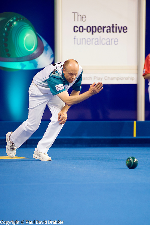 Cooperative Funeral Care World Bowls Tour Final Ian Bond Vs Jason Greenslade at Ponds Forge Sheffield 18 June 2010 .Images © Paul David Drabble.