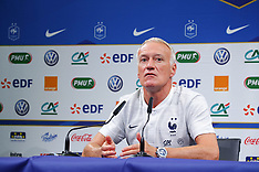 French team training & press conference - 3 Sep 2018