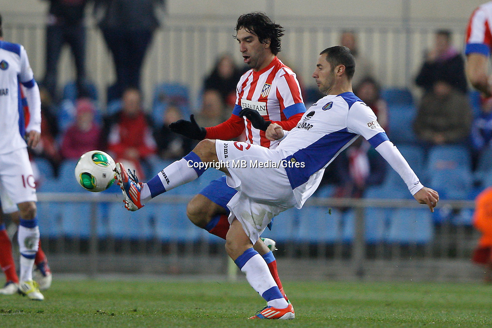 12.12.2012 SPAIN - Copa del Rey 12/13 Matchday 8th  match played between Atletico de Madrid vs Getafe C.F. (3-0) at Vicente Calderon stadium. The picture show Albert Lopo Garc?a (Defender of Getafe)