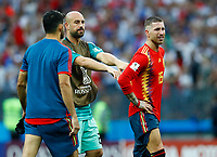Pepe Reina and Sergio Ramos (Spain) disappointment after the penalties<br /> Moscow 01-07-2018 Football FIFA World Cup Russia  2018 <br /> Spain - Russia / Spagna - Russia <br /> Foto Matteo Ciambelli/Insidefoto