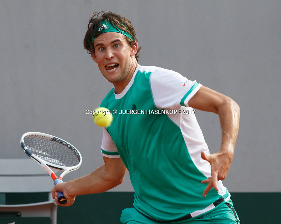 DOMINIC THIEM (AUT)<br /> <br /> Tennis - French Open 2017 - Grand Slam / ATP / WTA / ITF -  Roland Garros - Paris -  - France  - 4 June 2017.