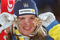 Anja PAERSON,                Weltmeisterin 2001  St. Anton  Ski alpin          <br />   Slalom Damen               Schweden