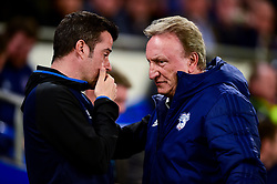 Everton manager Marco Silva shakes hands with Cardiff City manager Neil Warnock prior to kick off - Mandatory by-line: Ryan Hiscott/JMP - 26/02/2019 -  FOOTBALL - Cardiff City Stadium - Cardiff, Wales -  Cardiff City v Everton - Premier League
