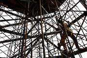 Nova Lima_MG, Brasil...Obras do Centro Cultural CASA (Centro de Arte Suspensa Armatrux) no Vale do Sol, em Nova Lima...The construction of the Cultural Center CASA  (Centro de Arte Suspensa Armatrux) in the Vale do Sol, Nova Lima...Foto: BRUNO MAGALHAES / NITRO