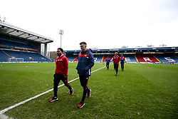 Jamie Paterson and Jay Dasilva of Bristol City arrive at Ewood Park for the Sky Bet Championship fixture against Blackburn Rovers - Mandatory by-line: Robbie Stephenson/JMP - 09/02/2019 - FOOTBALL - Ewood Park - Blackburn, England - Blackburn Rovers v Bristol City - Sky Bet Championship