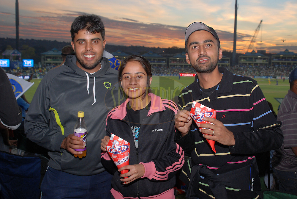 CENTURION, SOUTH AFRICA - 30 April 2009. The sun has set behind these hungry spectators during the IPL Season 2 match between the Rajasthan Royals and the Chennai Superkings held at Centurion, South Africa.