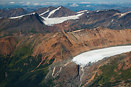 Glaciers and mountains beside Brucejack and KSM mines. View north to proposed Sulphurets Pit<br />   Transboundary Mines, 2017