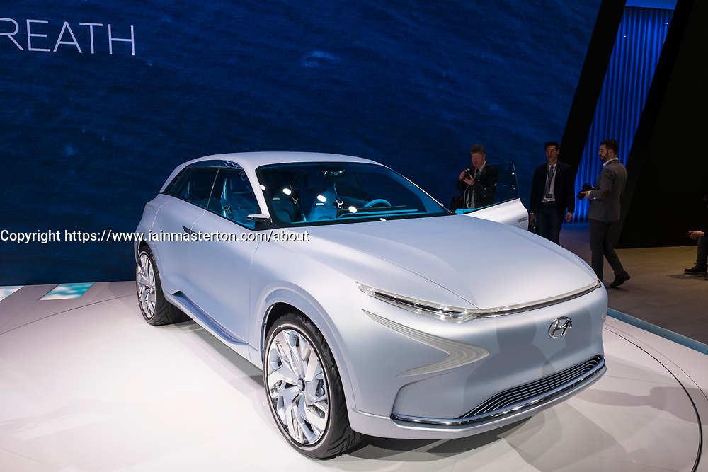 Hyundai FE concept - new Fuel cell SUV at 87th Geneva International Motor Show in Geneva Switzerland 2017