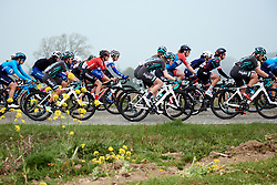 Lucinda Brand (NED) in the bunch across Lange Munte at Ronde van Vlaanderen - Elite Women 2019, a 159.2 km road race starting and finishing in Oudenaarde, Belgium on April 7, 2019. Photo by Sean Robinson/velofocus.com