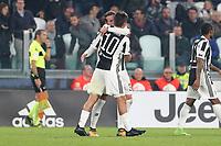 25.10.2017 - Torino - Serie A 2017/18 - 10a giornata  -  Juventus-Spal nella  foto: Paulo Dybala  e Federico Bernardeschi esultano dopo il gol del 2 a 0