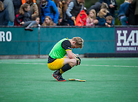 BLOEMENDAAL - teleurstelling bij vliegende keeper Imre Vos (Den Bosch) na  de hoofdklasse competitiewedstrijd hockey heren,  Bloemendaal-Den Bosch (2-1) COPYRIGHT KOEN SUYK