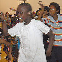 Kids dance at the Santa Monica YMCA during the National Center on Addiction Substance Abuse's (CASA) Family Day - A Day to Eat Dinner with Your Childrenª on Tuesday, September, 28, 2010..