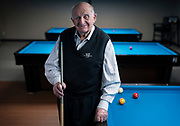Bob Keller poses for a portrait at Three Cushion Billiards in Madison, WI on Friday, May 10, 2019.