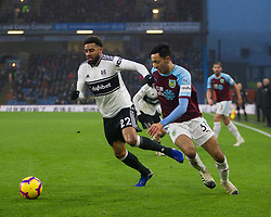 Cyrus Christie of Fulham (L) and Dwight McNeil of Burnley in action - Mandatory by-line: Jack Phillips/JMP - 12/01/2019 - FOOTBALL - Turf Moor - Burnley, England - Burnley v Fulham - English Premier League