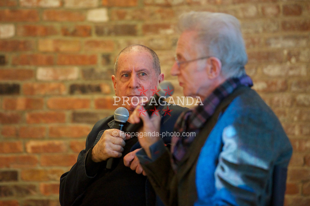 BROOKLYN, NEW YORK - Monday, March 11, 2013: Danny Fields (former manager of the Ramones) and Andrew Loog Oldham (former manager of the Rolling Stones) speak at the SoundCity conference at the Wythe Hotel as part of Liverpool SoundCity. (Pic by David Rawcliffe/Propaganda)