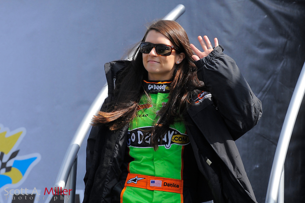 Feb. 13, 2010; Daytona Beach, FL, USA; Nationwide Series driver Danica Patrick (7) prior to the Drive4COPD 300  at Daytona International Speedway. ©2010 Scott A. Miller