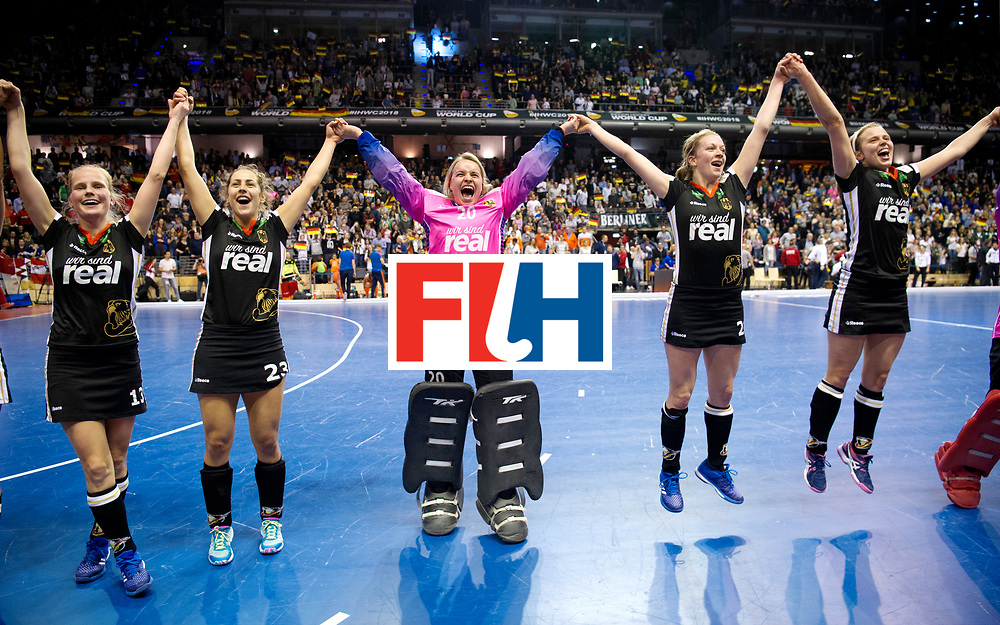 BERLIN - Indoor Hockey World Cup<br /> Final: Netherlands - Germany<br /> foto: Germany wins.<br /> WORLDSPORTPICS COPYRIGHT FRANK UIJLENBROEK